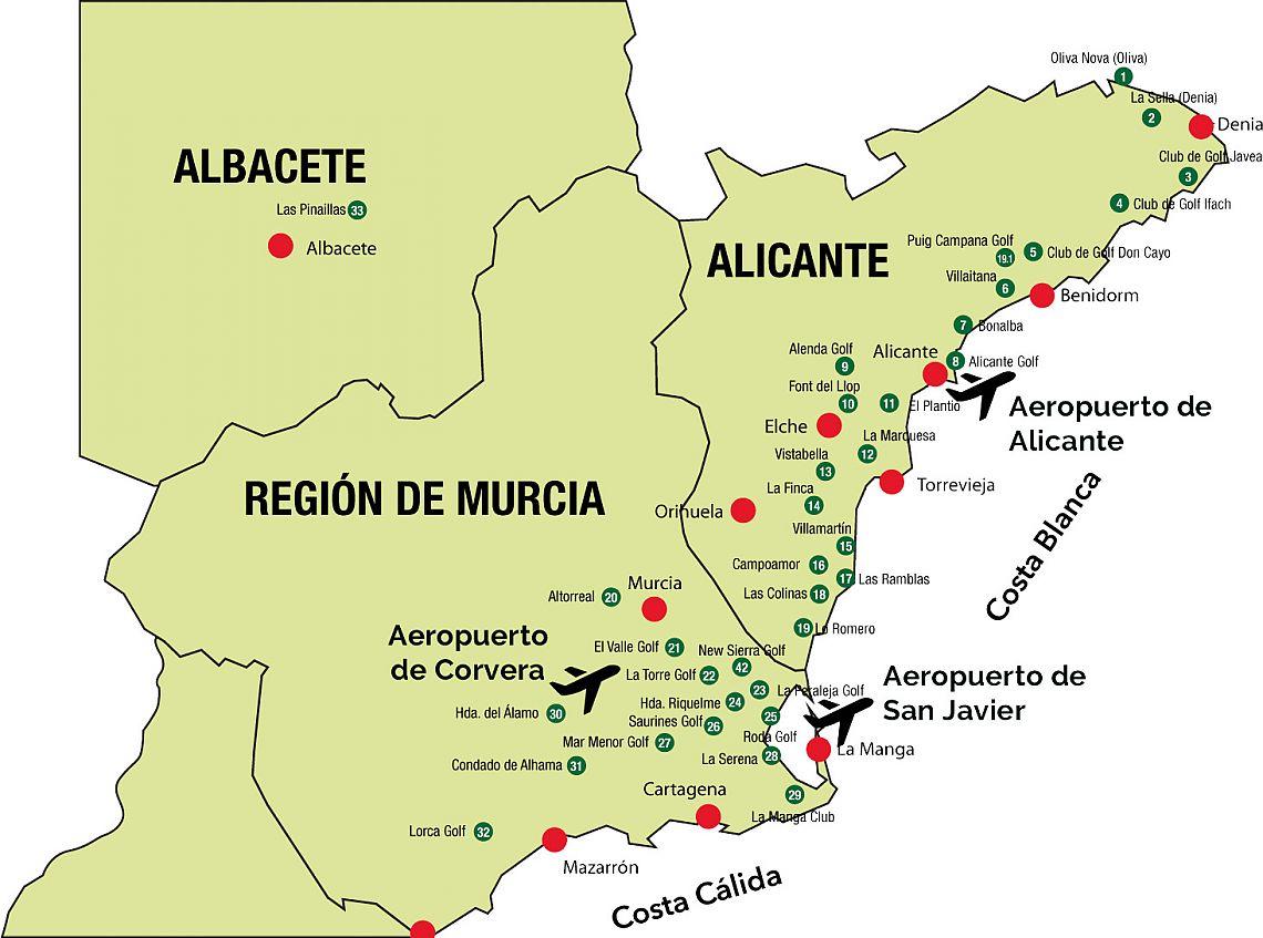 alicante karte Solymar Golf Properties Spain, Costa Calida and Blanca, 10 Reasons  alicante karte