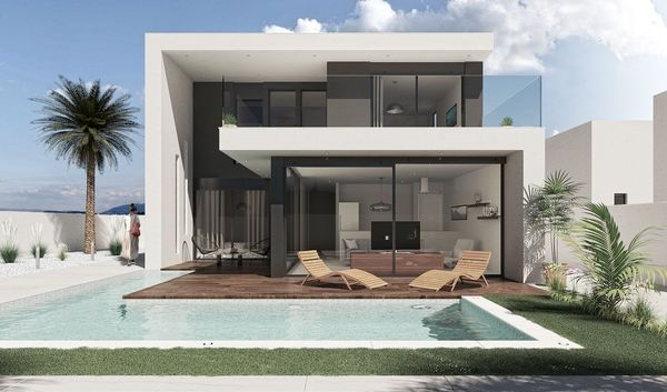 Costa Calida Properties close to Golf Resorts - Luxus Villa in Sucina, Costa Blanca