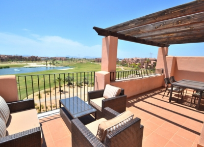 Fantastic views from Fairway Penthouse, Mar Menor Golf Resort, Costa Calida
